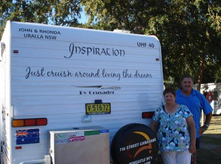John and Rhonda 'just cruis'n around living the dream'