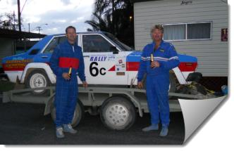 Second-Place-Getters in the Car Rally at Coffs