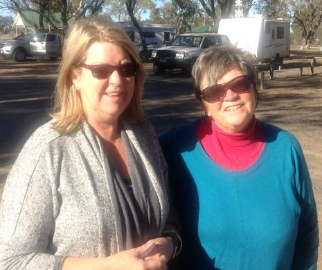 Gerry and Marg at Walgett Free Park