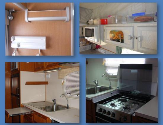 Check kitchen layout and storage