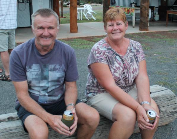 Darrell and Ellen around the campfire