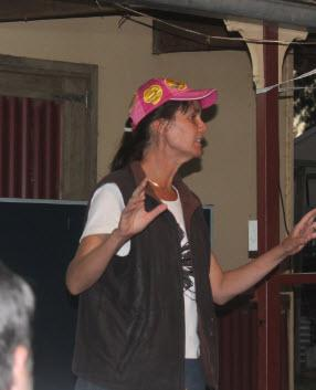 Cathy entertains us at Ilfracombe